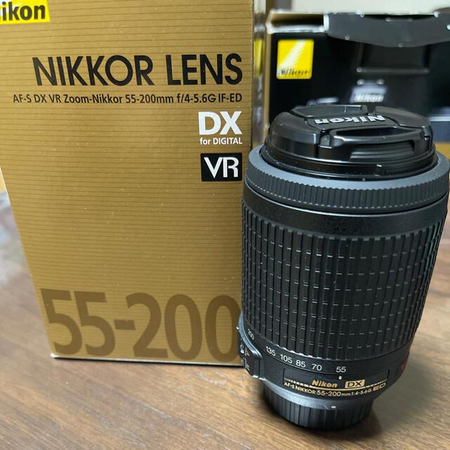 Nikon(ニコン)のNIKKOR LENS AF-S DX VR 55-200m F4-5.6 スマホ/家電/カメラのカメラ(レンズ(ズーム))の商品写真