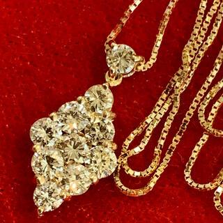 【豪華‼︎願望成就に☆】K18 天然ダイヤモンド 1カラット ネックレス♡