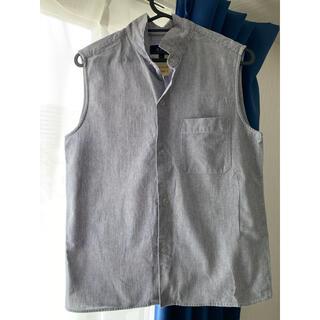 アーペーセー(A.P.C)のA.P.C. ノーカラーヒッコリーシャツ(シャツ/ブラウス(半袖/袖なし))