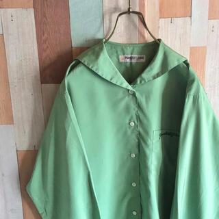 アートヴィンテージ(ART VINTAGE)の古着 90s vintage PF セーラーシャツ レアカラー 刺繍 ポリ(シャツ)