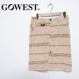 ゴーウエスト(GOWEST)のGOWEST ゴーウエスト デザインスカート(ひざ丈スカート)