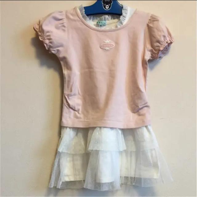 TOCCA(トッカ)の最終SALE!TOCCA Tシャツ ワンピース セットアップ 2点セット 100 キッズ/ベビー/マタニティのキッズ服女の子用(90cm~)(Tシャツ/カットソー)の商品写真
