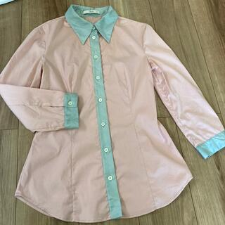 プラダ(PRADA)のPrada プラダ ピンクシャツ 水色 ブラウス miumiu ストレッチ(シャツ/ブラウス(長袖/七分))