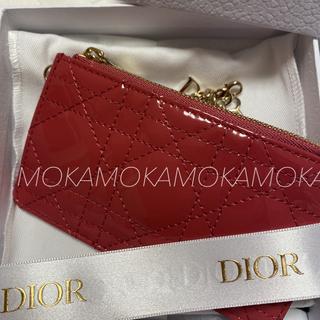 クリスチャンディオール(Christian Dior)の[日本限定] LADY DIOR ジップ カードホルダー カナージュ新作❣️(キーケース)