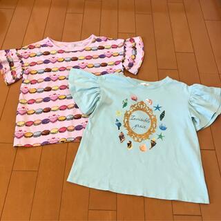 GU - フリル袖 Tシャツ 2枚セット ☆ UNIQLO & GU