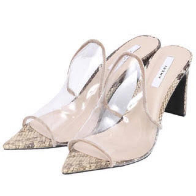 Ameri VINTAGE(アメリヴィンテージ)のAMERI クリアサンダル レディースの靴/シューズ(サンダル)の商品写真