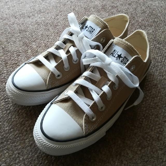 CONVERSE(コンバース)のY 様専用。コンバース スニーカー24, 5cm ベージュ レディースの靴/シューズ(スニーカー)の商品写真