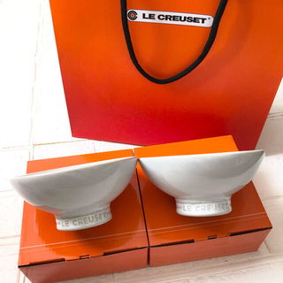 LE CREUSET - 《新品未使用》ルクルーゼ チャワン 茶碗 ちゃわん  ホワイト2点