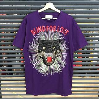 Gucci - 美品 グッチ 18SS アングリータイガー レディース半袖Tシャツ 紫 L