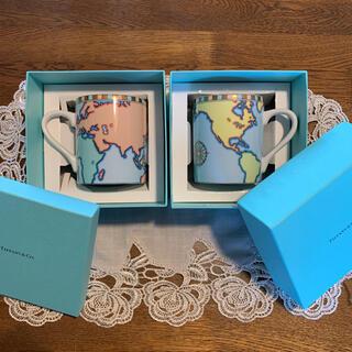 Tiffany & Co. - ティファニーマグカップ 【世界地図】ワールドマップマグカップ2個セット