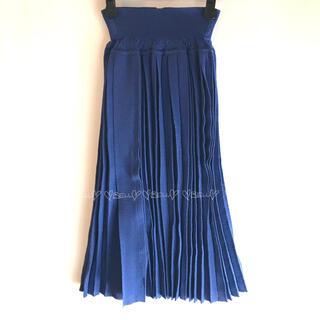 イリアンローヴ(iliann loeb)の♡イリアンローヴ♡コットンプリーツスカート♡ブルー♡(ひざ丈スカート)