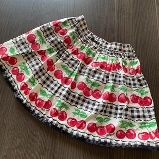 Shirley Temple - シャーリーテンプル  スカート 120 ギンガムチェリー