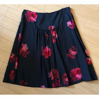 プラダ(PRADA)のPRADAフラワープリントスカート(ひざ丈スカート)