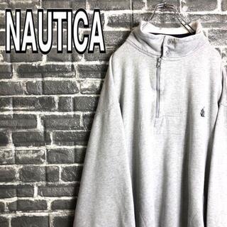 ノーティカ(NAUTICA)のノーティカ☆スウェット 刺繍ロゴ ハーフジップ 90s ゆるだぼ(スウェット)