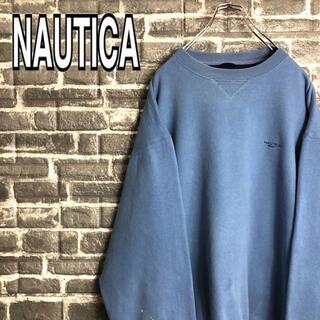 ノーティカ(NAUTICA)のノーティカ☆スウェット 古着 ワンポイント刺繍ロゴゆるだぼ 90s 希少(スウェット)