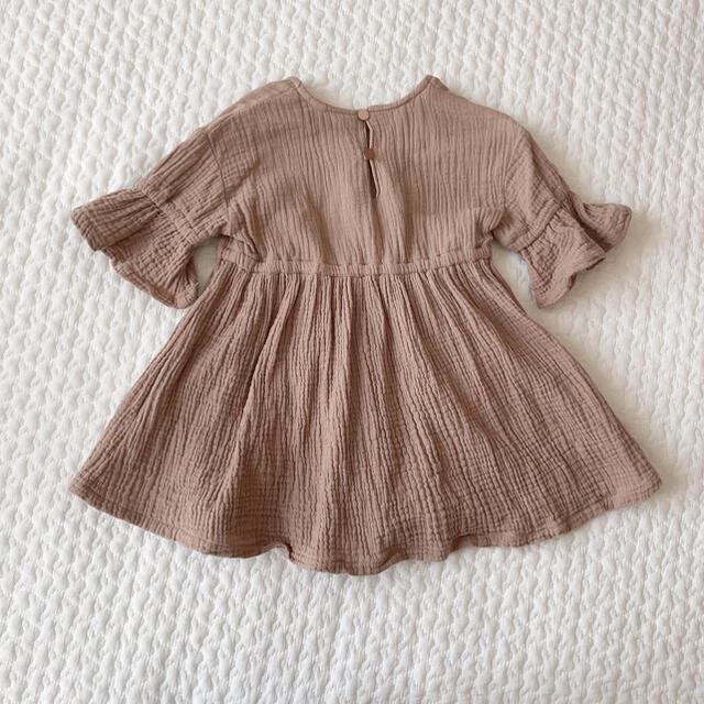 BREEZE(ブリーズ)の80*BREEZE ナチュラルワンピース キッズ/ベビー/マタニティのベビー服(~85cm)(ワンピース)の商品写真