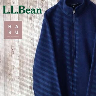 エルエルビーン(L.L.Bean)のL.L.Bean エルエルビーン 秋冬用パーカー 刺繍ロゴ入り ブルー 青(パーカー)