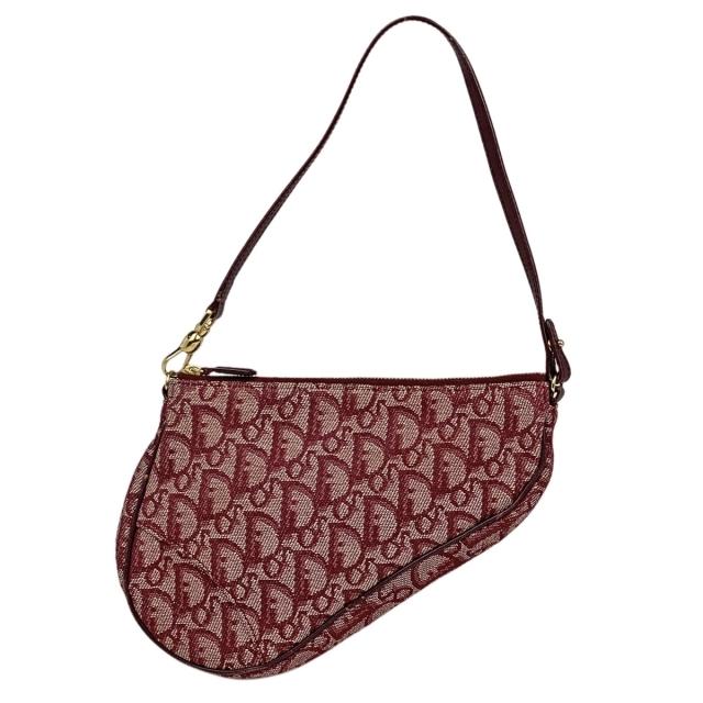 Christian Dior(クリスチャンディオール)のクリスチャンディオール トロッター サドルバッグ レディース 【中古】 レディースのバッグ(ハンドバッグ)の商品写真