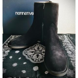 ノンネイティブ(nonnative)のMinedenim×nonnative sidezip boots BLK 42(ブーツ)