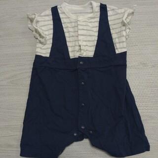 ジーユー(GU)のGUBaby ジーユーベビー 半袖カバーオール70(カバーオール)