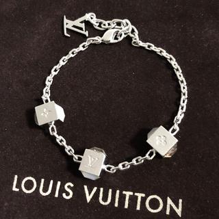 LOUIS VUITTON - 正規品 ヴィトン ブレスレット ブラスレ ギャンブル シルバー クリスタル 石