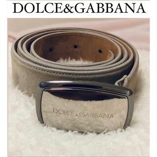 ドルチェアンドガッバーナ(DOLCE&GABBANA)のD&G ドルガバ ベルト ロゴ スエード バックル メンズ レディース(ベルト)