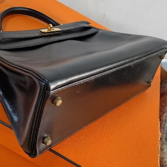 Hermes(エルメス)の本物エルメス 黒ケリー32 ボックスカーフ レディースのバッグ(ハンドバッグ)の商品写真