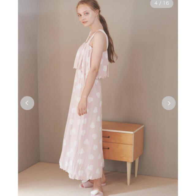 gelato pique(ジェラートピケ)のハートドレス レディースのルームウェア/パジャマ(ルームウェア)の商品写真