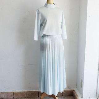 celine - セリーヌ CELINE ☆ セットアップ 34 ブルー系 プリーツスカート