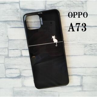 OPPO A73 猫 シルエット ケース カバー ストOPPO かわいい2