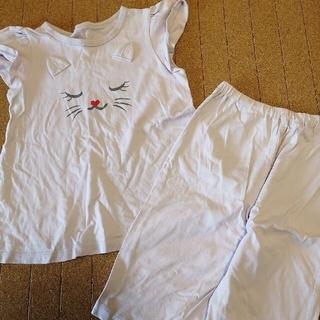 ジーユー(GU)のねこ スヌーピー パジャマ 130 2点セット(パジャマ)