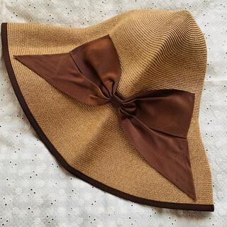 バーニーズニューヨーク(BARNEYS NEW YORK)のアシーナニューヨーク 麦わら帽子 折り畳み帽子(麦わら帽子/ストローハット)