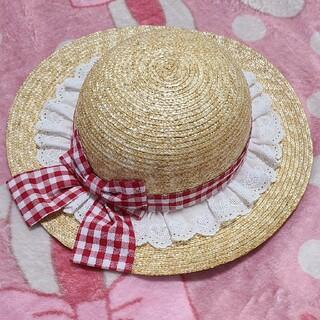 Shirley Temple - シャーリーテンプル☆ギンガム🎀帽子54センチ