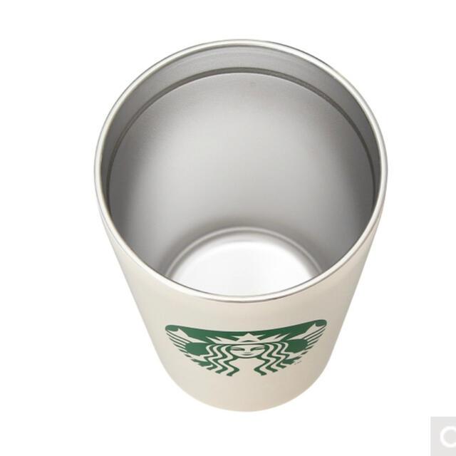 Starbucks Coffee(スターバックスコーヒー)の☆STARBUCKS☆ステンレスタンブラー  ホワイト インテリア/住まい/日用品のキッチン/食器(タンブラー)の商品写真