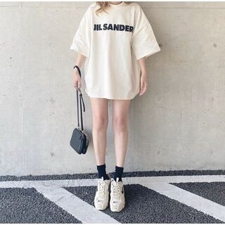 Jil Sander - 超美品 JIL SANDER ジルサンダー オーバーサイズ ロゴ Tシャツ