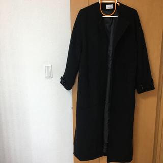 エゴイスト(EGOIST)のエゴイスト ロングコート 黒 コート ザラ マウジー(ロングコート)