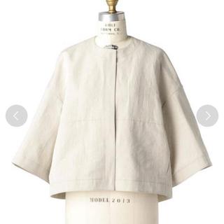 Drawer - 新品 ドゥロワー リネン ジャケット ブラミンク