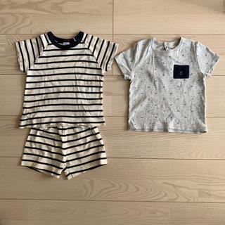 PETIT BATEAU - プチバトー Tシャツ 2枚セット 24m 86cm