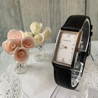 Tiffany & Co. - 【美品】TIFFANY&Co ティファニー 腕時計 スクエア シルバー