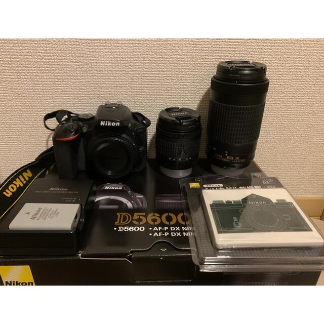 Nikon(ニコン)のNikon d5600 ダブルズームキット スマホ/家電/カメラのカメラ(デジタル一眼)の商品写真