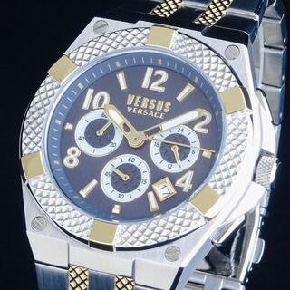ヴェルサーチ(VERSACE)の【訳あり大特価】ヴェルサス ヴェルサーチ 新品 メンズ腕時計 クロノグラフ 即納(腕時計(アナログ))