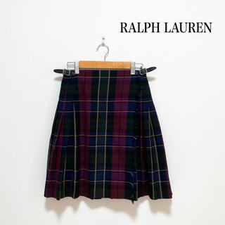 ラルフローレン(Ralph Lauren)のRALPH LAUREN プリーツ 巻きスカート チェック ラップ 160(スカート)