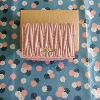 miumiu - 《美品》miumiu  レディース 折り財布