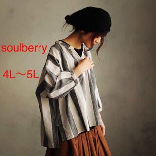 ソルベリー(Solberry)のソウルベリー 大きいサイズ 4L 繊細なストライプブラウス(シャツ/ブラウス(長袖/七分))
