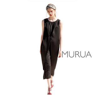 ムルーア(MURUA)のMURUA オールインワン パンツ ブラック ベスト 結婚式 二次会(オールインワン)