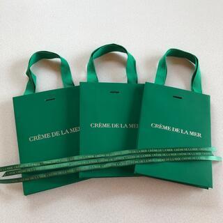 ドゥラメール(DE LA MER)の最終処分価格!ドゥ・ラ・メール ショッパー リボン 3つセット 美品(ショップ袋)