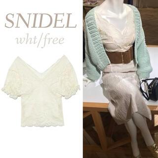 snidel - レース トップス SNIDEL ブラウス