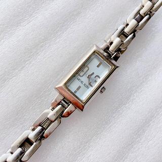 ミッシェルクラン(MICHEL KLEIN)のMICHEL  KLEIN レディースクォーツ腕時計 稼動品 水色(腕時計)