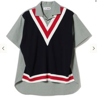 TTT_MSW Knit vest docking shirt Green(L)