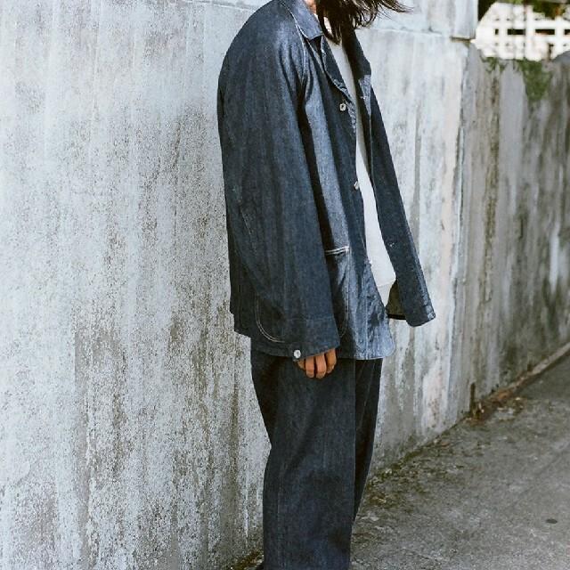COMOLI(コモリ)のCOMOLI 21ss デニムワークジャケット サイズ3 メンズのジャケット/アウター(Gジャン/デニムジャケット)の商品写真
